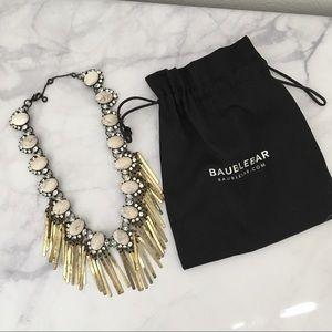 BaubleBar Fringe Necklace in Distressed Gold
